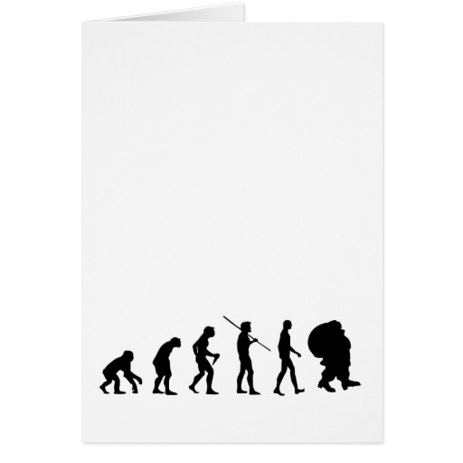 Evolution Of Santa Claus Greeting Card