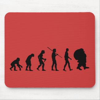 Evolution Of Santa Claus Mouse Pad