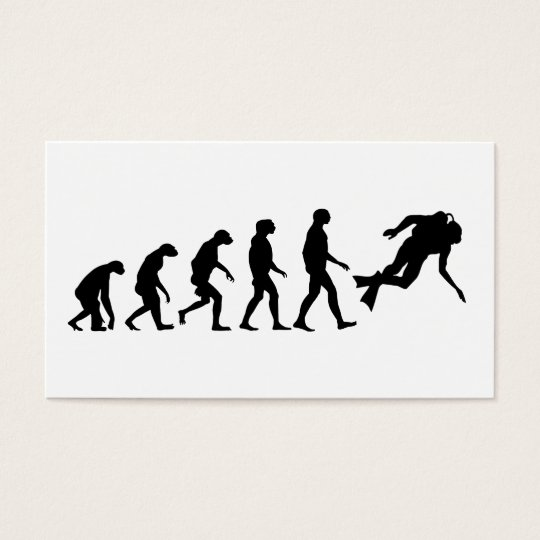 Evolution of Scuba Diving Business Card