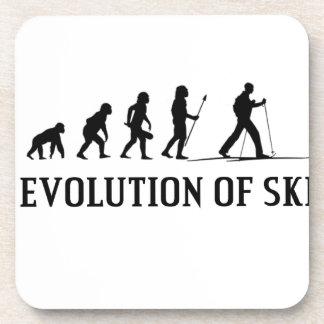 Evolution Of Ski Drink Coaster