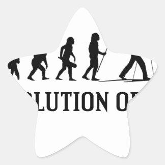 Evolution Of Ski Star Sticker