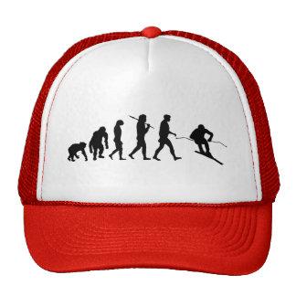 Evolution of skiing cap hats