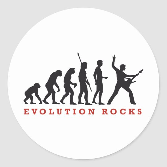 evolution of skirt classic round sticker