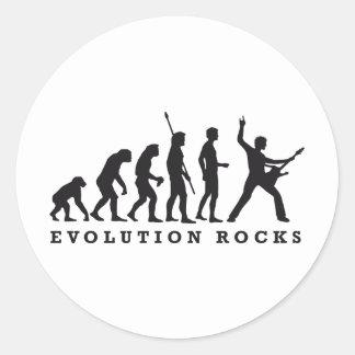 evolution of skirt classic round sticker