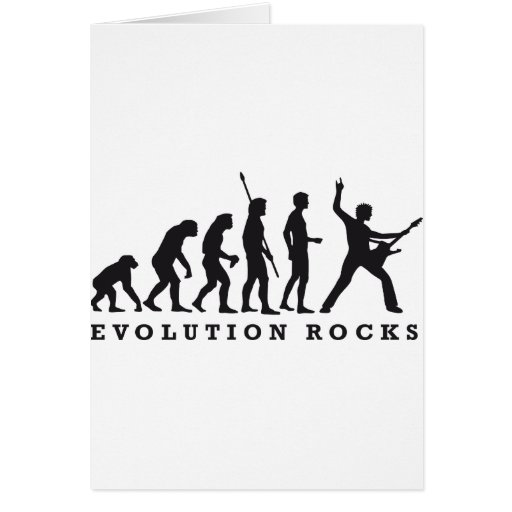 evolution of skirt greeting card