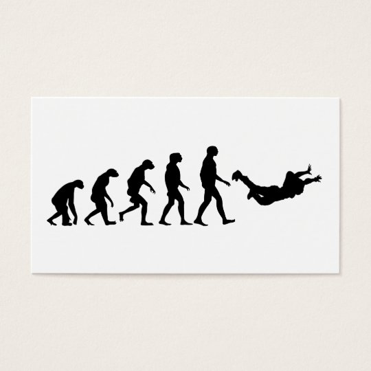 Evolution of Skydiving Business Card