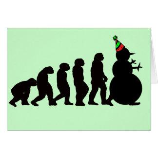 Evolution of Snowman Card