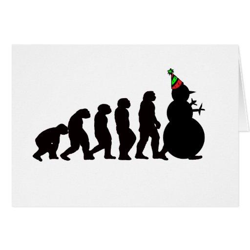 Evolution of Snowman Greeting Card