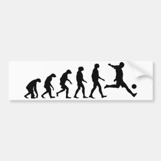 Evolution of Soccer Bumper Sticker