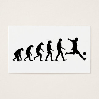Evolution of Soccer Business Card