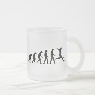 Evolution of Soccer Frosted Glass Coffee Mug