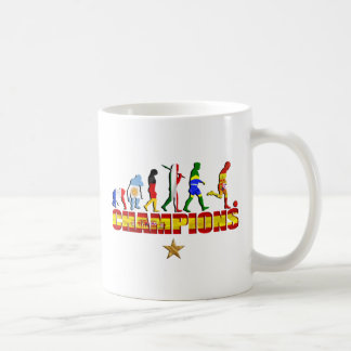 Evolution of Spanish football Spain World Champion Classic White Coffee Mug