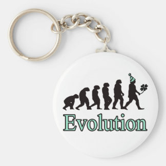 Evolution of St. Patrick! Keychain