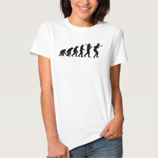 Evolution of Table Tennis or Ping Pong Mens Black Shirt