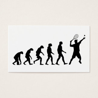 Evolution of Tennis Business Card