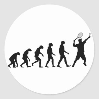 Evolution of Tennis Classic Round Sticker
