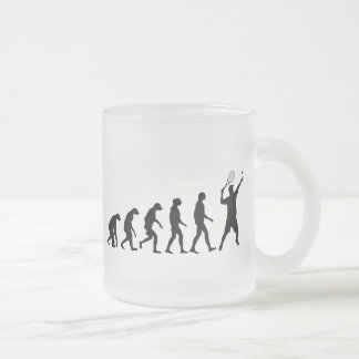 Evolution of Tennis Frosted Glass Coffee Mug