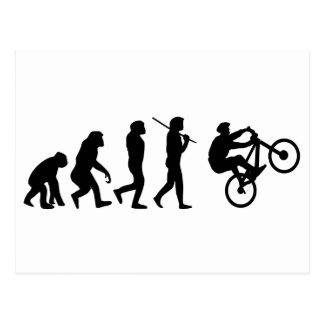 Evolution of the cyclist postcard