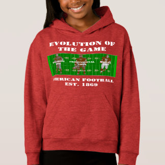 Evolution of the Game--American Football Hoodie