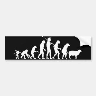 Evolution of the Masses Bumper Sticker Car Bumper Sticker