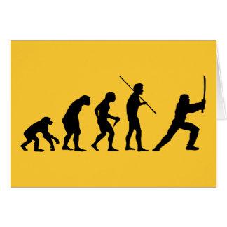 Evolution of the Ninja - from Man to Ninja Greeting Card