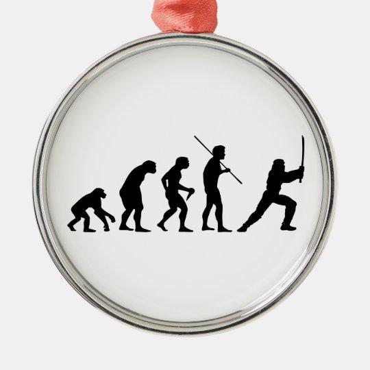 Evolution of the Ninja - from Man to Ninja Metal Ornament