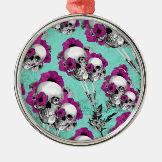 Evolution of the poppy, skull pattern. metal ornament