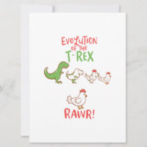 Evolution Of The T-Rex RAWR! Funny Dino Chicken Save The Date