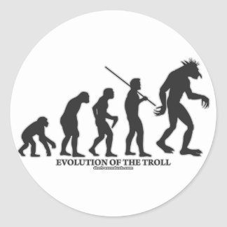 Evolution of the Troll Classic Round Sticker