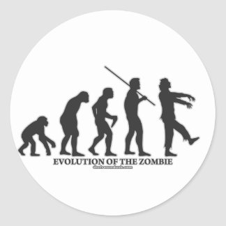 Evolution of the Zombie Classic Round Sticker