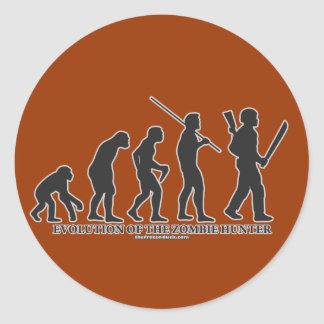 Evolution of the Zombie Hunter Classic Round Sticker
