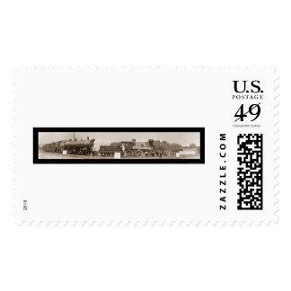 Evolution of Trains Photo 1913 Stamp