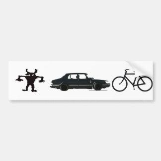 Evolution of transportation bumper sticker