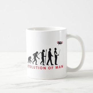 evolution of usted controlling drone taza de café