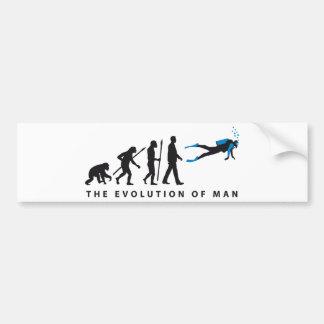 evolution of usted diving sport etiqueta de parachoque