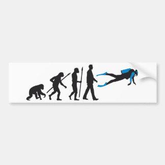 evolution of usted diving sport pegatina de parachoque