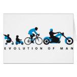 evolution of usted motorcycle biker tarjeta de felicitación