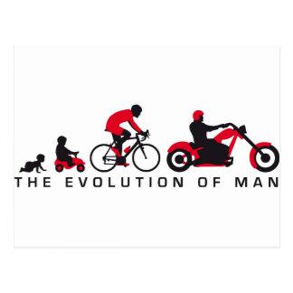 evolution of usted motorcycle biker postal