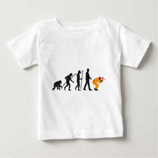 evolution of usted paintball player tee shirt