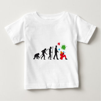 evolution of usted paintball player tshirt