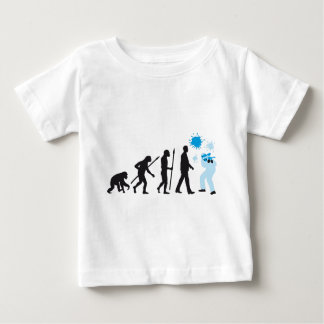 evolution of usted paintball player t-shirt