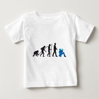 evolution of usted paintball player camiseta