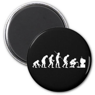 Evolution of Video Games Gaming Gamer 2 Inch Round Magnet