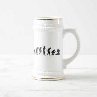 Evolution of Video Games Gaming Gamer Beer Stein
