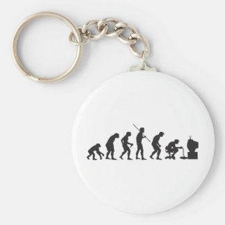 Evolution of Video Games Gaming Gamer Keychain