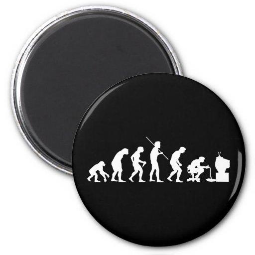 Evolution of Video Games Gaming Gamer Fridge Magnet