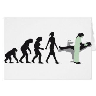 evolution OF woman female dentist Card