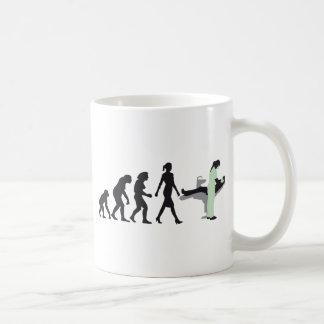 evolution OF woman female dentist Classic White Coffee Mug
