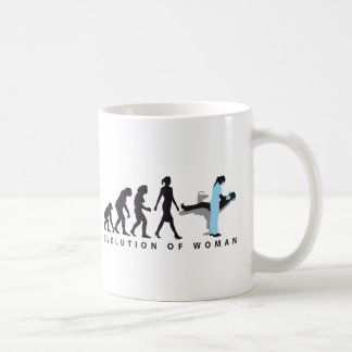 evolution OF woman female dentist Coffee Mug