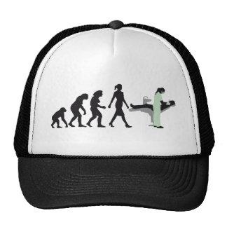 evolution OF woman female dentist Trucker Hat